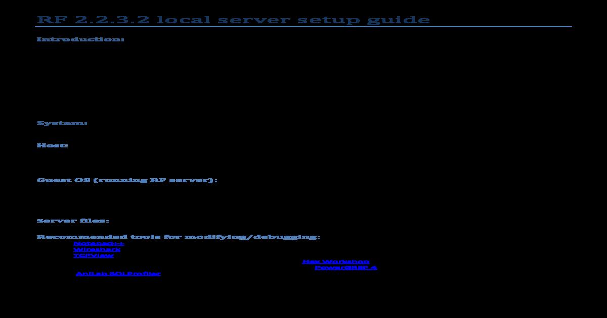 RF 2 2 3 2 Server Setup Guide