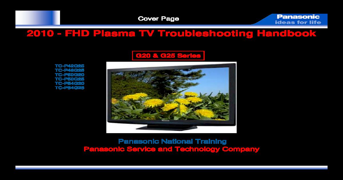 2010 FHD Plasma TV G20 G25 Series Troubleshooting Handbook