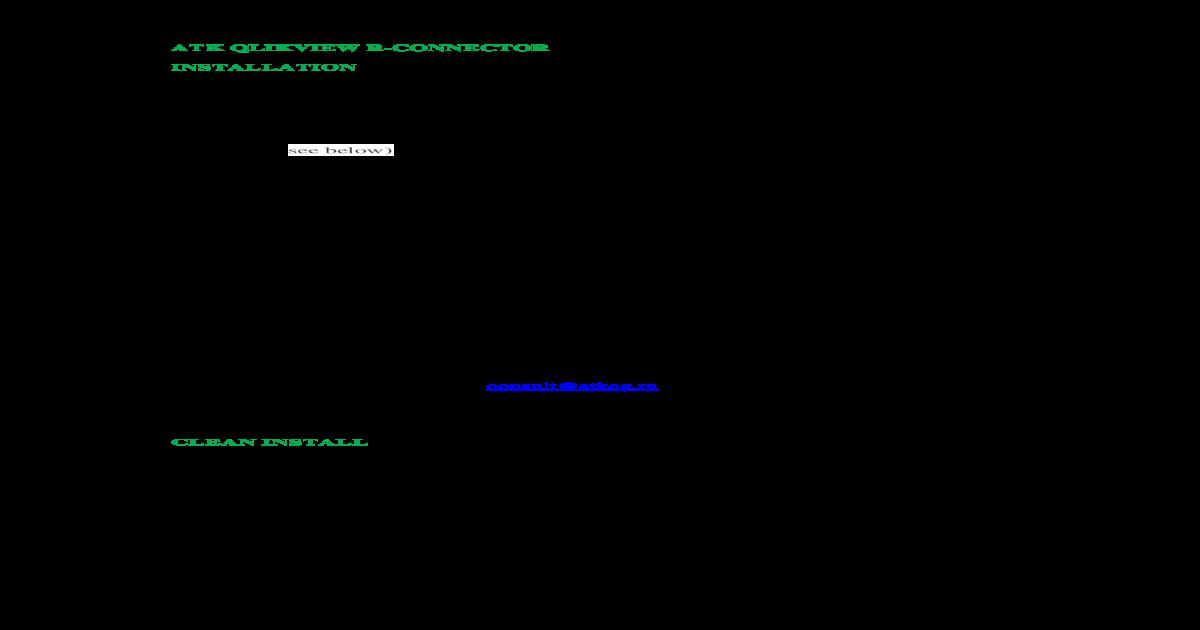 Atk Qlikview R-connector Installation