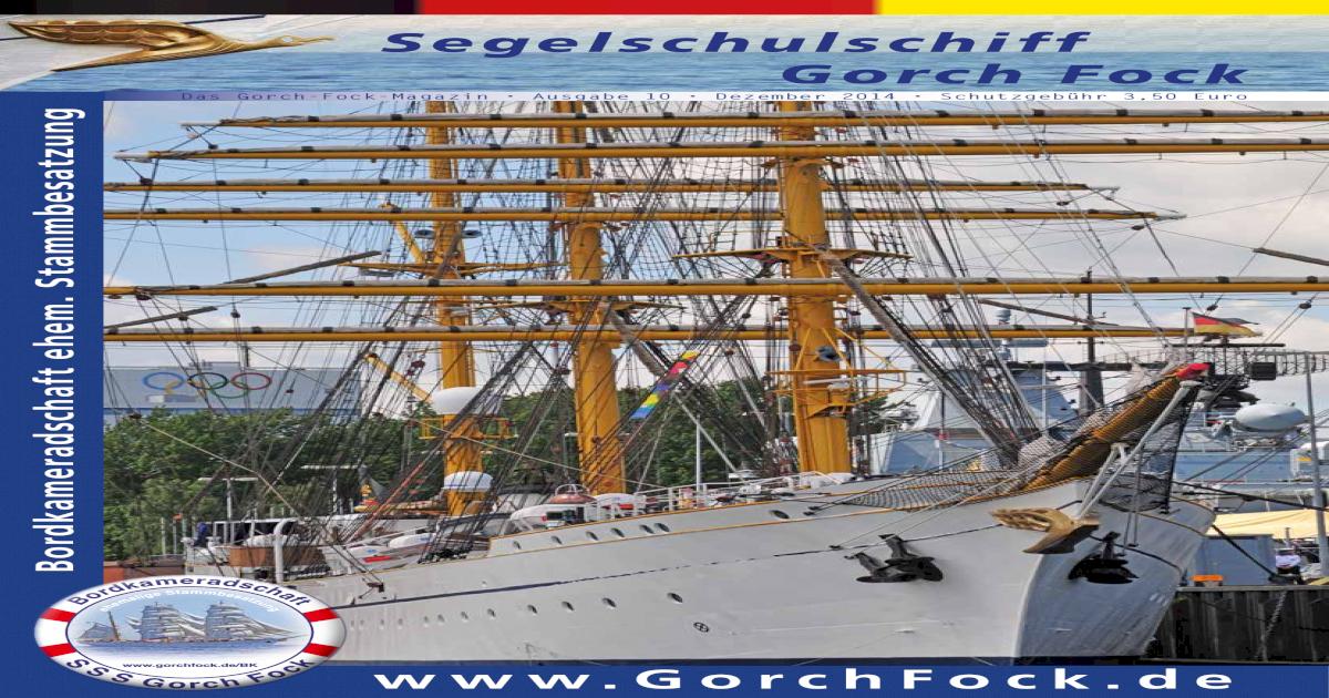 Gorch Fock Segelschulschiff Schiff Bundeswehr Bundesmarine BW Marine Stralsund W