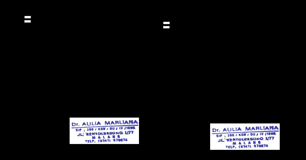 Surat Dokter Aulia Marliana