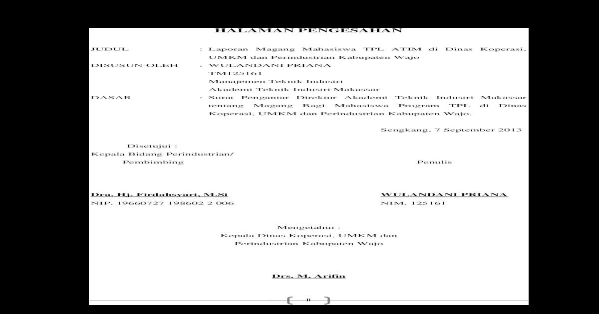 Contoh Laporan Magang Mahasiswa Hukum Di Kantor Advokat Kumpulan Contoh Laporan