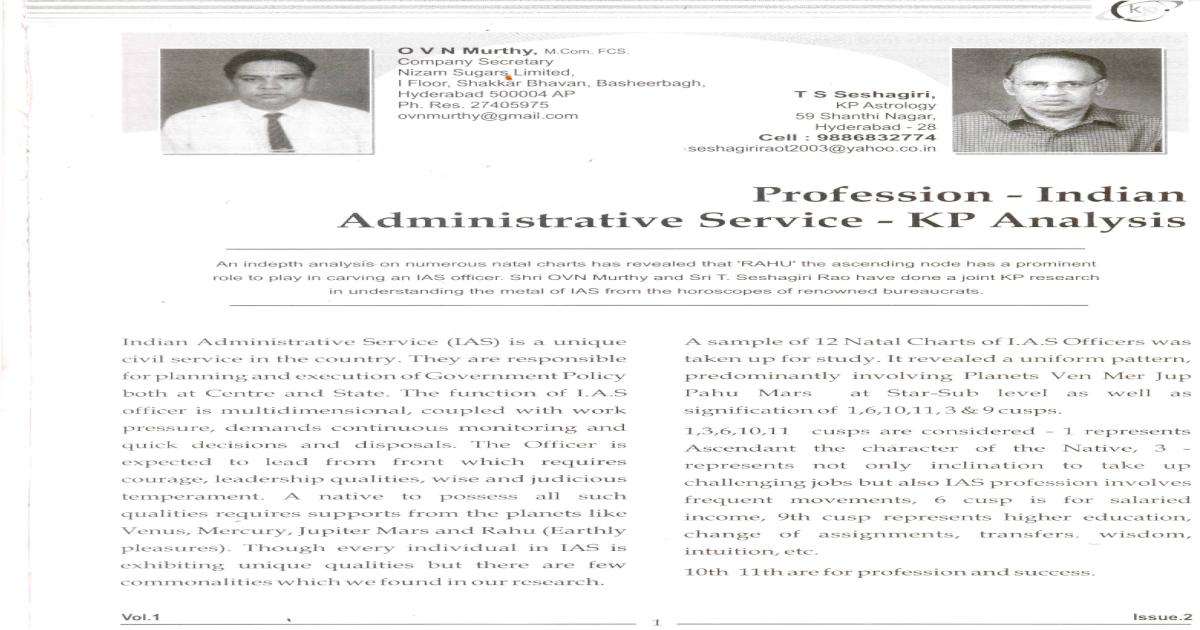 IAS PROFESSION KP Analysis pdf