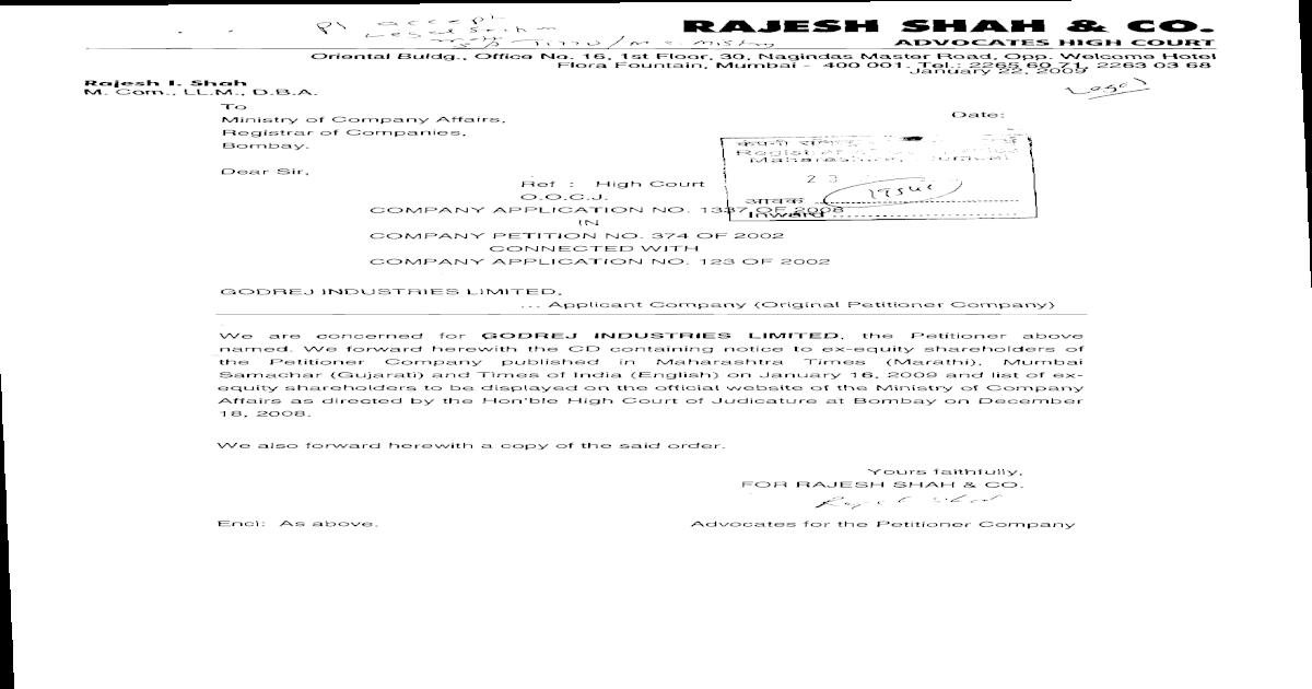 Notice_Godrej_5feb2009 pdf