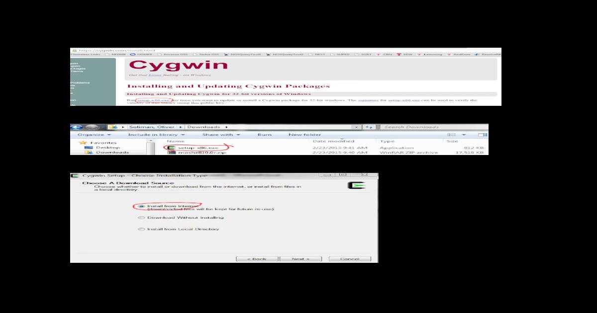 Cygwin Moshell Install Procedure