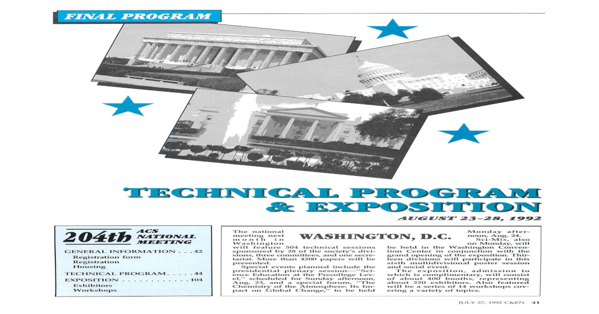 TECHNICAL PROGRAM & EXPOSITION