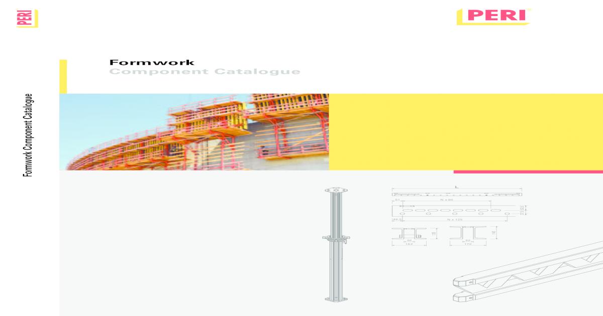Component Catalogue Formwork 2009