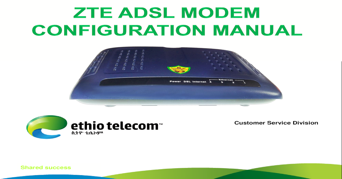 ADSL Configuration