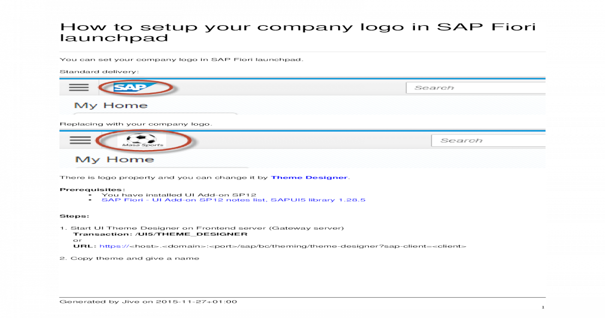 How to Setup Your Company Logo in SAP Fiori Launchpad