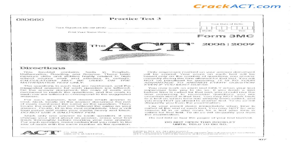 Og 3 2009 Form 3mc Www Crackact Com Prepare for the act test. og 3 2009 form 3mc www crackact com
