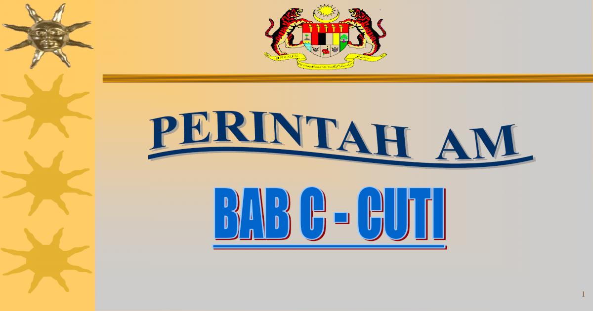 Slideshow Perintah Am Bab C