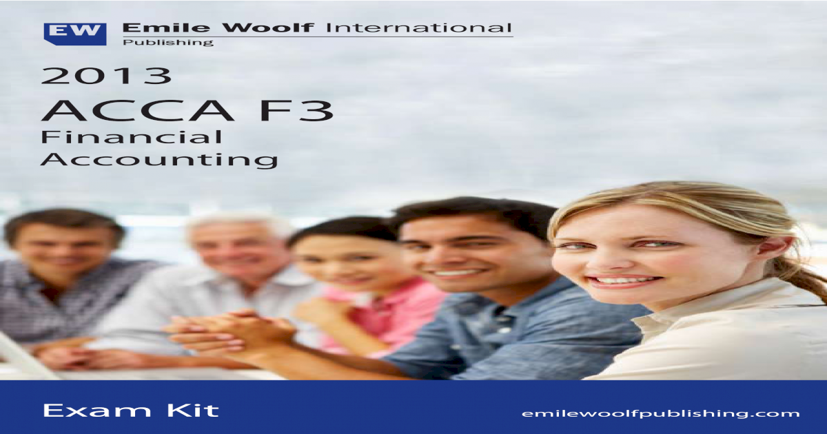 ACCA F3 Exam Kit 2013 Emile Woolf pdf