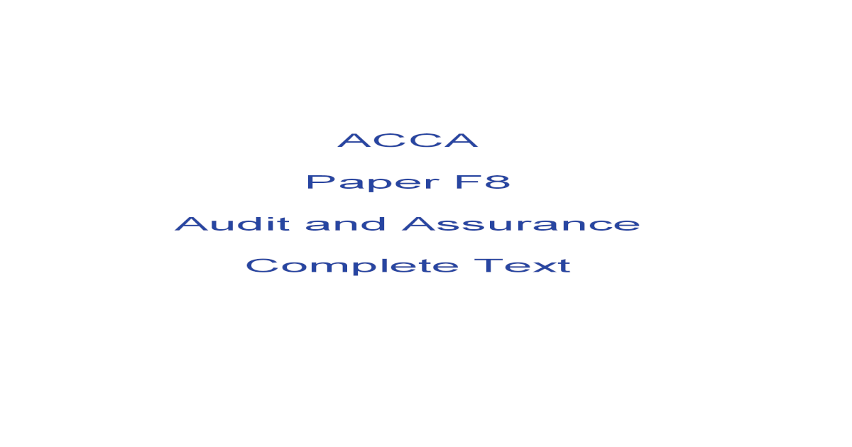 ACCA F8 Complete Text 2015-16