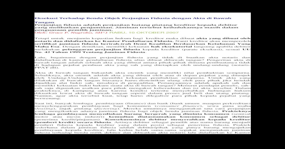 Best Surat Perjanjian Hutang Piutang Notaris Island