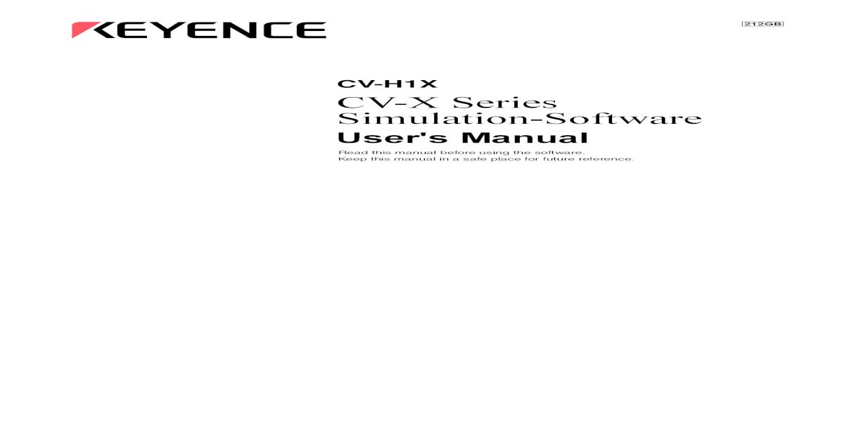 CV X Series Simulation Software