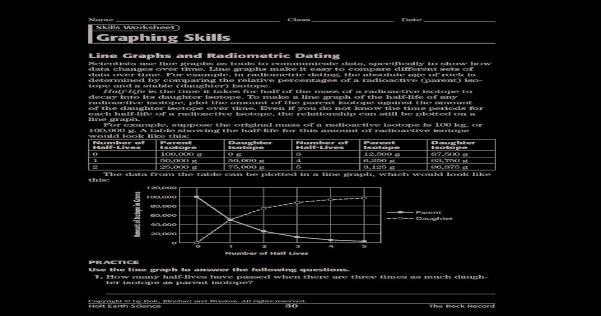 Answers worksheet radioactive dating 12.3 dating