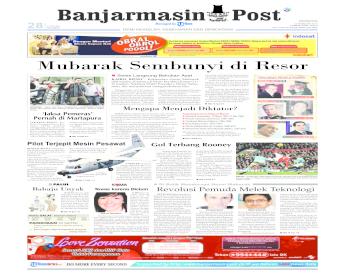 Banjarmasin Post Edisi Minggu, 13 Februari 2011
