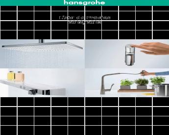 3 tipos de chorro Hansgrohe 27082400 Croma Select E Vario combinaci/ón de set de ducha y termostato 0,90m blanco//cromo