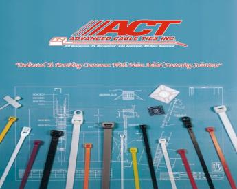 "100 Pack ACT AL-05-50-RL-0-C 5"" Tab Releasable Cable Ties UV Black Nylon"