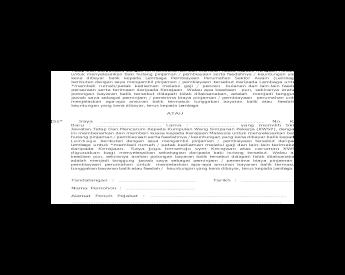 Borang 2 Surat Persetujuan Penyelesaian Hutang