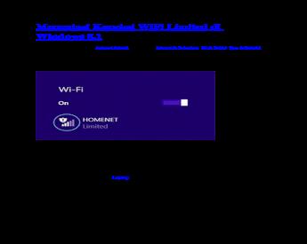 Mengatasi Koneksi WiFi Limited Di Windows 8