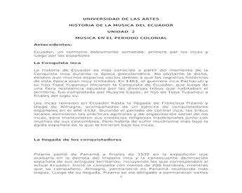 Musica En El Periodo Colonial Estudiantes