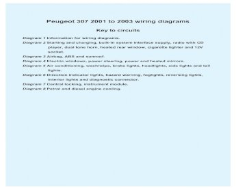 Peugeot 307 Wiring Diagram